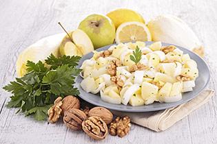 endives aux pommes et aux noix
