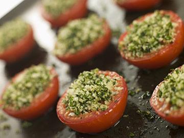tomates à l'ail
